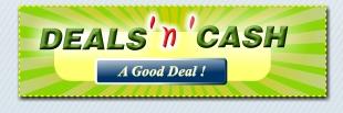 Deals N Cash logo.