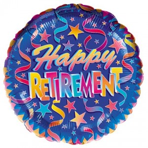 Happy retirement balloon.